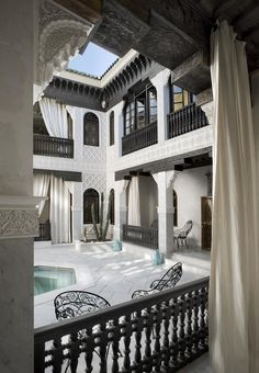 What a heavenly place! Intricate Moroccan craftsmanship in every inch. Riad La Sultana in Marrakesh.  #MoroccanLuxury #MoroccanDecor.