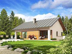 Projekt domu Tori III (wersja A) economic Country Modern Home, Rustic Modern, Facade House, Design Case, Home Fashion, Exterior Design, Gazebo, House Plans, Outdoor Structures