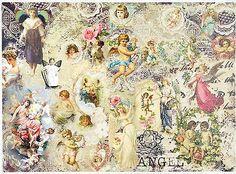 Rice Paper for Decoupage Decopatch Scrapbook Craft Sheet Romantic Little Angels