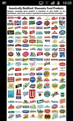 Companies that use #GMOs #Monsanto products/crops. How many of these products are in your home right now?