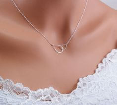 Sterling Silver Infinity necklace, Mini Infinity necklace, delicate jewelry