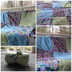Love the colors in this gorgeous geofabulous custom picnic blanket made by Meadowlark Designs by Christine
