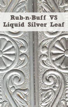 Rub-n-Buff VS Liquid Leaf on Wood