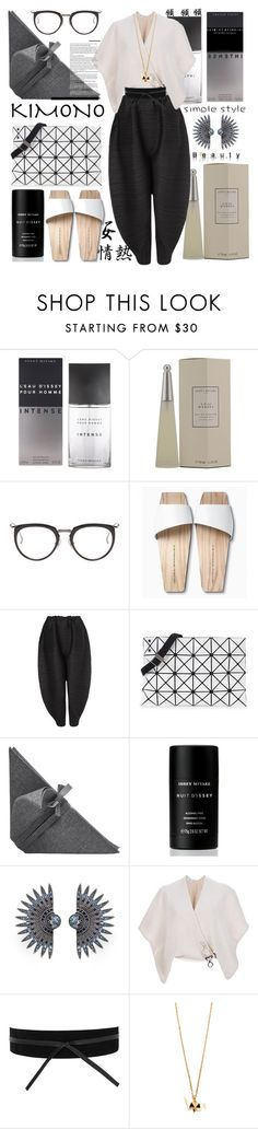 """""""Kimono Cool"""" by fassionista ❤ liked on Polyvore featuring Issey Miyake, Mizutori, Pleats Please by Issey Miyake, Bao Bao by Issey Miyake, Lulu Frost, Gianfranco Ferré, MANGO, japan, kimono and asianstyle"""