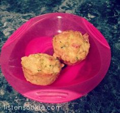 Zucchini Slice Muffins. Toddler Food. Baby Led Weaning.