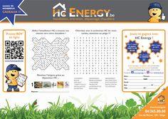 "Set de table ""HC Energy"" Jouer, Map, Table, Interview, Graphic Design, Gift, Location Map, Tables, Maps"