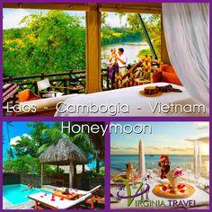 Laos #Cambogia e #Vietnam Antichi #templi, #spiagge deserte, #fiumi impetuosi e #foreste sperdute saranno la colonna sonora del tuo #viaggio di #nozze. Lasciati coccolare dalle #bellezze di questi #paesi e goditi la tua #luna di #miele, unica e stupenda. Scopri la promozione su www.virginiatravel.it #matrimonio #viaggidinozze #natura #paesaggi #verde #cena #lunadimiele #emozionidiviaggio #entrainagenzia