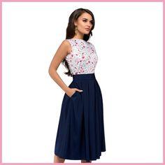 8aad045512d Платье с принтом Новинка 2018 г. модные женские туфли летние платье на  бретелях Повседневное Элегантный