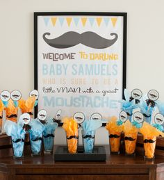 Mustache Bash Baby Shower - one of the best we've seen yet!