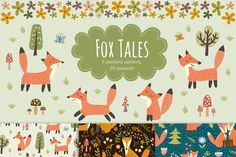 Fox Tales: patterns by JuliyaS on @creativemarket