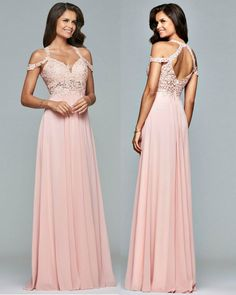Pretty in pink at Prom? YES PLEASE! This Faviana dress is Gorg! Come try it on NOW! (Dress $380) #shopALBfolsom #promdresses #getfancy