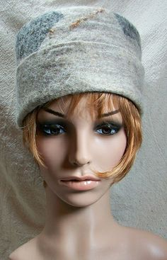 Grey Wool Felt Hat by Suzanne Higgs