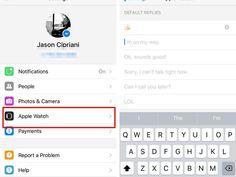 Set custom replies for Facebook Messenger on Apple Watch