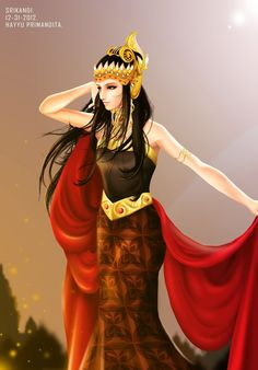 Indonesian Women, Indonesian Art, Chinese Drawings, Easy Drawings, Traditional Eagle Tattoo, Mythology Tattoos, Anime Warrior, Javanese, Thai Art