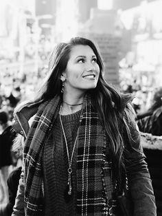 Girl In Time Square, New York