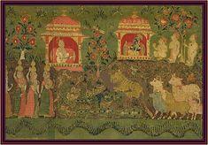 Uddhava Spends the Night in Gokula Talking with Nanda