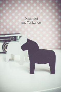 DIY/Dalapferd aus Tonkarton