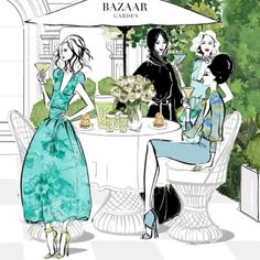 """""""My illustration of #HouseofBazaar for @harpersbazaararabia if you're in Dubai, come along tomorrow at 12 Midday to say hello and see my mini exhibition on…"""""""