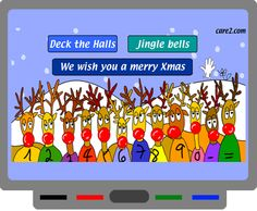 SMART Board Goodies Honk on noses to make own song or follow along to play Christmas songs