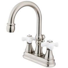 Elements of Design Centerset Bathroom Faucet with Double Cross Handles