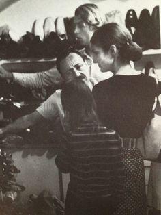 Capri 1962 - Jacqueline Kennedy and Amedeo Canfora in via Camerelle (foto famiglia Canfora)