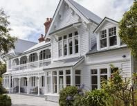Look inside the gorgeous historic Banksia Cottage, full of English country charm, in the picturesque seaside village of Akaroa, NZ. Akaroa New Zealand, New Zealand Houses, New Zealand South Island, Seaside Village, Colonial Architecture, Old Buildings, Property For Sale, Restoration, Real Estate