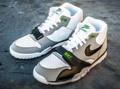 Nike Air Trainer 1   White   Black   Neutral Grey   Chlorophyll