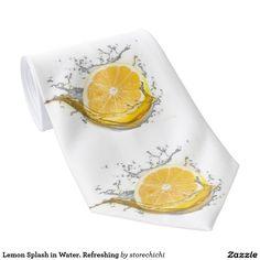 Lemon Splash in Water. Refreshing Tie