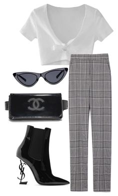 """Untitled #234"" by be-marta ❤ liked on Polyvore featuring Yves Saint Laurent, WithChic and Alexander Wang"