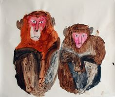 Monkeys - Miroco Machiko さる2匹