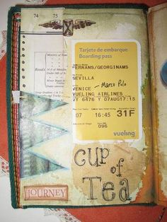 Ideas for Creating a Travel Journal - PAPER CRAFTS, SCRAPBOOKING & ATCs (ARTIST TRADING CARDS)