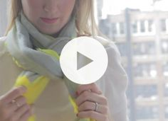 Take two minutes to watch this video that shows you exactly how to nail three covetable scarf techniques: the classic loop, the messy cowgirl and the fancy pretzel (it's all in a name, people).