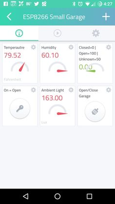 "About This Project I had previously completed a similar project using Blynk, so I thought it would be good to upgrade my project and try Cayenne. In this project, we will use an ESP8266 with Cayenne to control a Garage Door Opener. I also use OpenHab Home Automation and included MQTT to be useful with that. I haven't been able to get the Fake ""light"" to indicate if the Garage Door is open just yet. What's Connected ESP8266 Relay DHT22/AM2303 Temperature & H..."