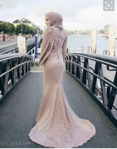 duyung - Another! Hijab Prom Dress, Muslimah Wedding Dress, Hijab Evening Dress, Muslim Wedding Dresses, Muslim Dress, Prom Dresses With Sleeves, Simple Dresses, Bridal Dresses, Bridesmaid Dresses