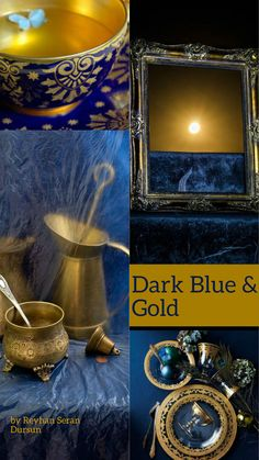 '' Dark Blue & Gold'' by Reyhan Seran Dursun