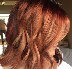 warm red blonde