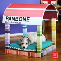 Paint Chip Dog Bed From an Ikea Lack Table | Hometalk