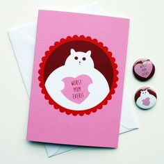 Mother's Day Card  Cheeky Mothers Day Card  Rude by thenosuchdisco