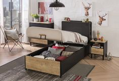 Storage beds provide simple and practical ways of keeping teen boys bedroom. Use this storage furniture with bed features to perfectly transform the decor of your teen boys room. Bedroom Themes, Kids Bedroom, Teen Boy Bedding, Ottoman Bed, Childrens Beds, Bed Storage, Luxury Bedding, Toddler Bed, New York