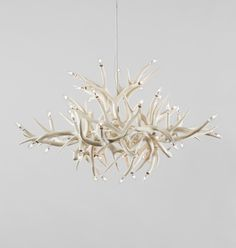 Chandelier - 24 Antlers (White)