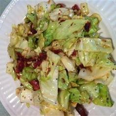 Southern Fried Cabbage Recipe Side Dishes with bacon, vegetable oil, salt, ground black pepper, cabbage, white onion, white sugar