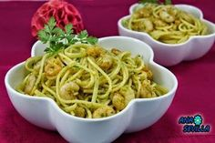 Espaguetis con gambas al ajillo Ana Sevilla con Thermomix