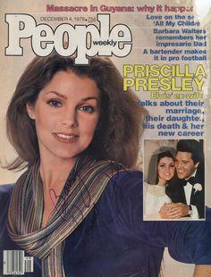 Priscilla Presley Autographed 8x10 5 inch People Magazine Cover BTG12034 | eBay