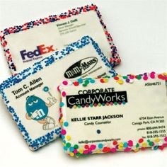 Edible Business Card Sugar-Frosted Cookie