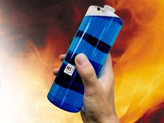 """Throwable Fire Extinguisher.  The patented and officially approved fire-dousing """"grenade""""...  The container is made from special breakable plastic that poses no risk to the thrower or other people. The agent inside will then extinguish the flames. It contains 500ml (16.9 fl oz) of ammonium phosphate dibasic and ammonium bicarbonate, and has the extinguishing capacity ten times that of water. However, despite being chemical, the non-toxic agent is safe.  $85"""