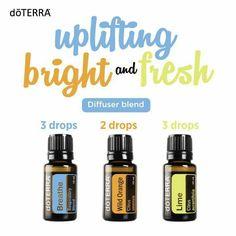 Uplifting diffuser blend. DoTerra essential oils.