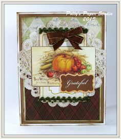 Traditional Thanksgiving Grateful Card