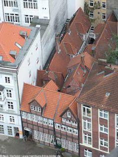 http://www.hamburg-fotos-bilder.de/ Luftaufnahme Krameramtsstuben in Hamburg.