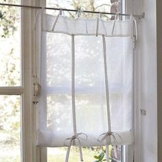 Kitchen Curtain Whitewashed Cottage chippy shabby chic french country rustic swedish idea