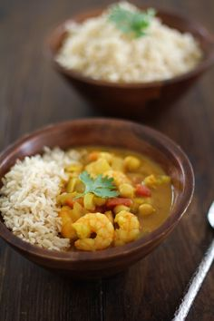 Coconut Shrimp and Chickpea Curry | http://www.throastedroot.net